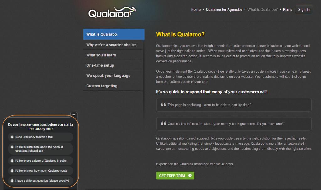 Qualaroo Survey Example