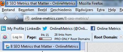 Title Tag - SEO Metrics