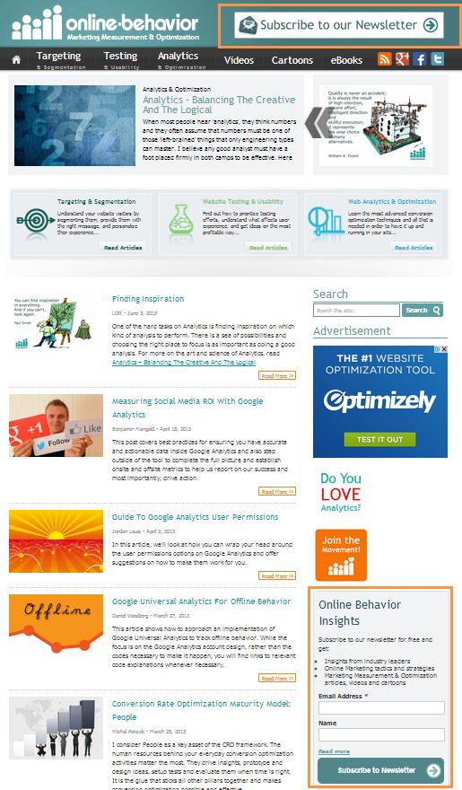 Online Behavior website