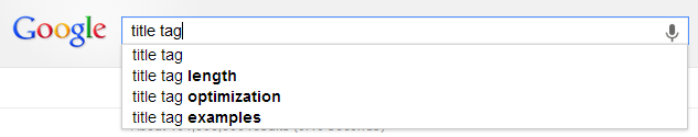 Google Title Tag