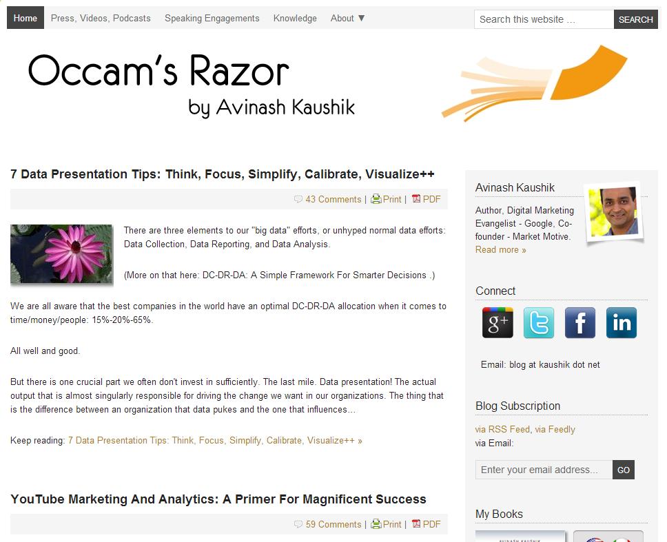 Occam's Razor Blog