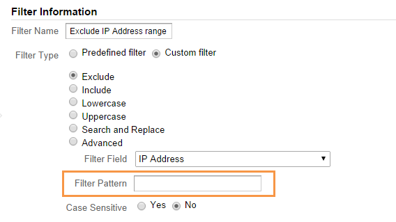 Filter - Exclude IP address range