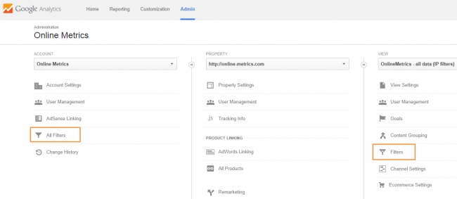 analytics filters in Google Analytics
