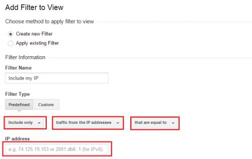 IP - create new filter