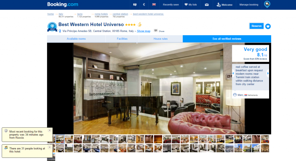 Booking.com Best Western Hotel Universo