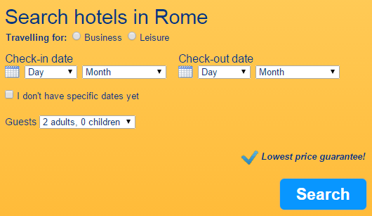 Booking.com Search hotels in Rome