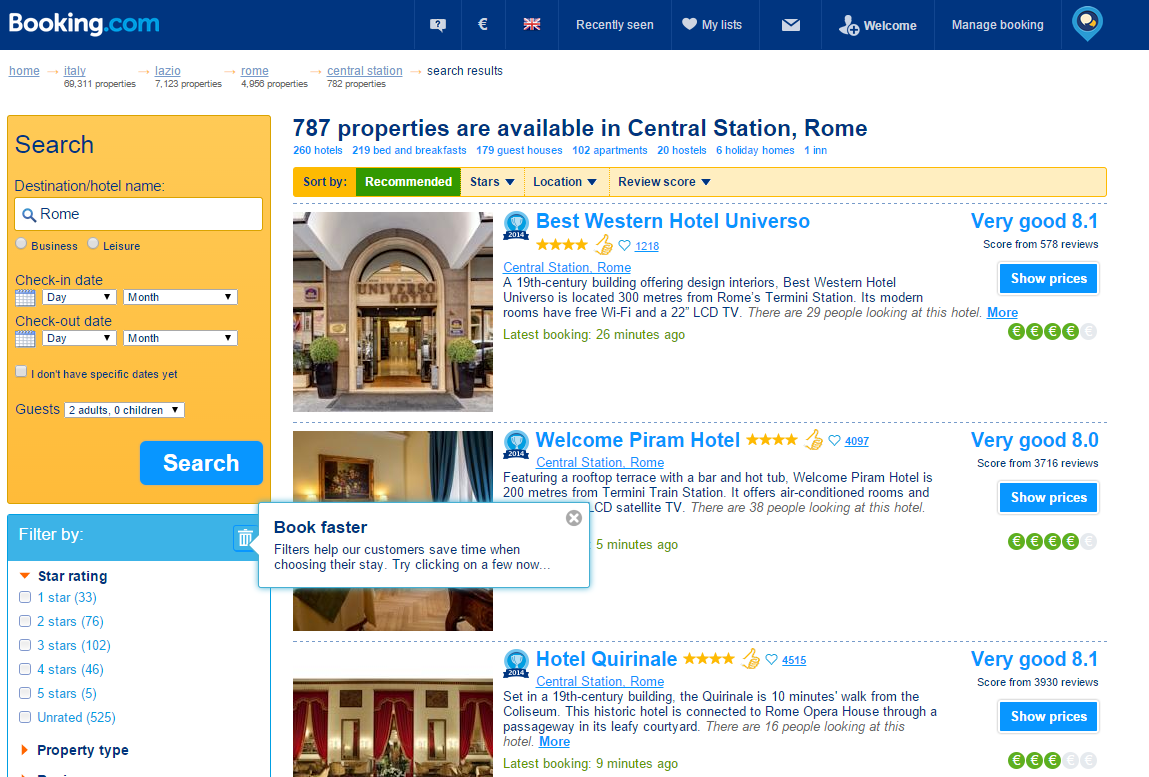 hotel booking case study