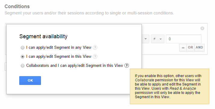 Segment availability