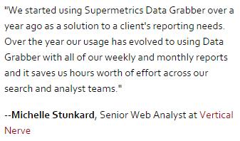 Testimonial Supermetrics Data Grabber