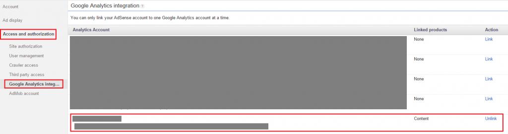 AdSense - Google Analytics integration