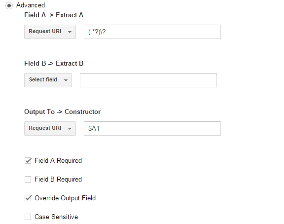 Filter to remove all query parameters