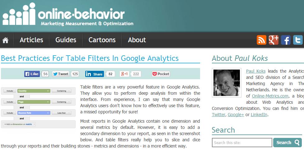 March - guest post on Online Behavior
