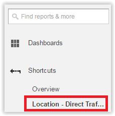 Location - direct traffic shortcut in menu