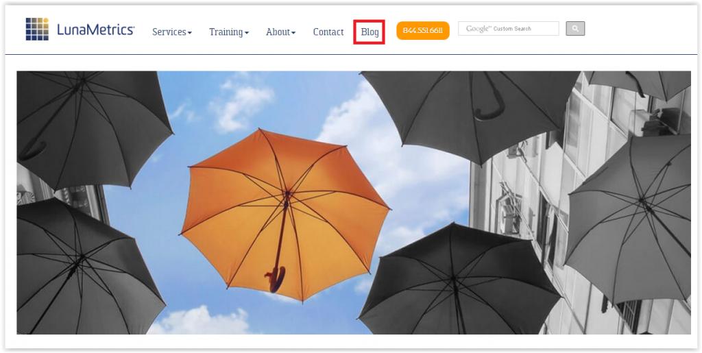 LunaMetrics homepage