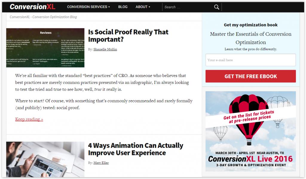 ConversionXL blog