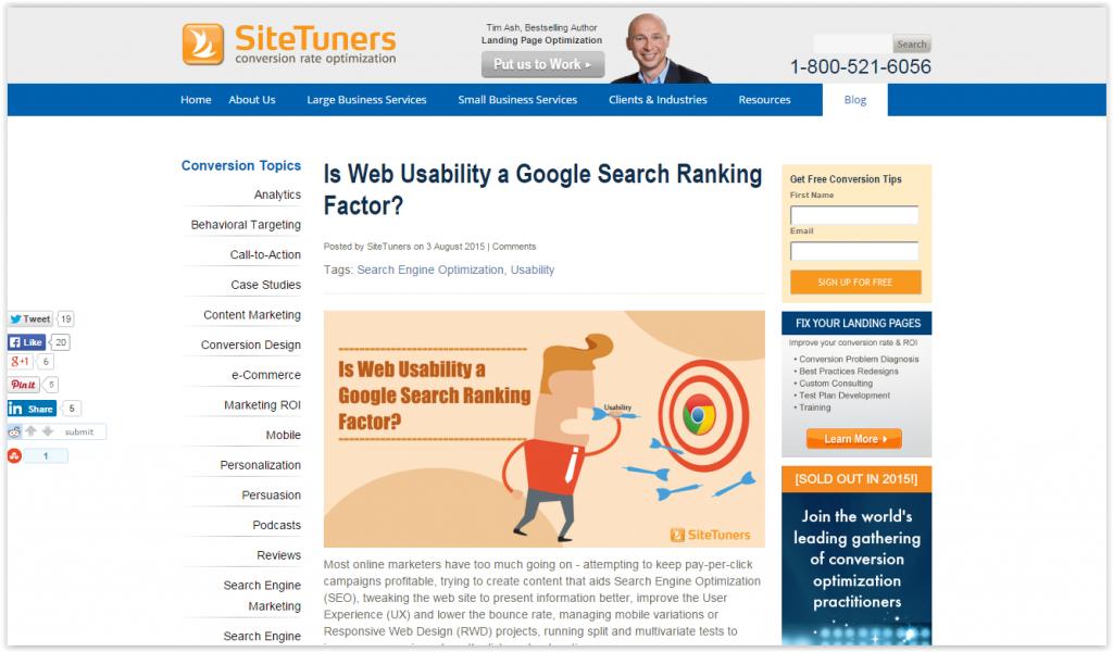 SiteTuners blog