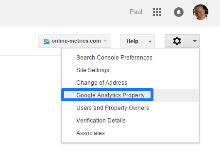 Link Google Search Console to Google Analytics