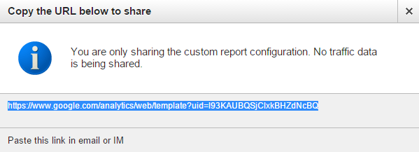 Share custom report - step 3