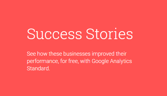 Success Stories Google Analytics