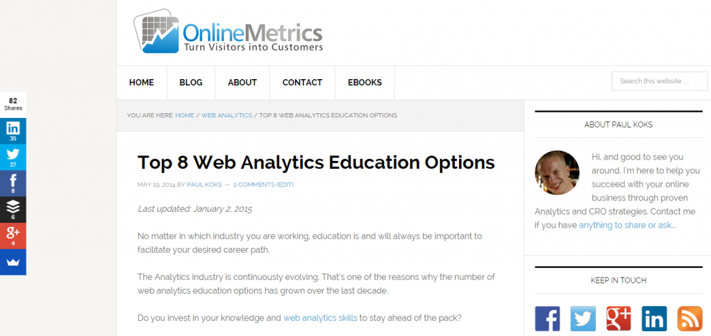 Top 8 Web Analytics Education Options
