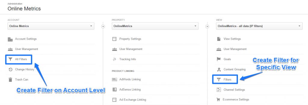 Create filters in Google Analytics