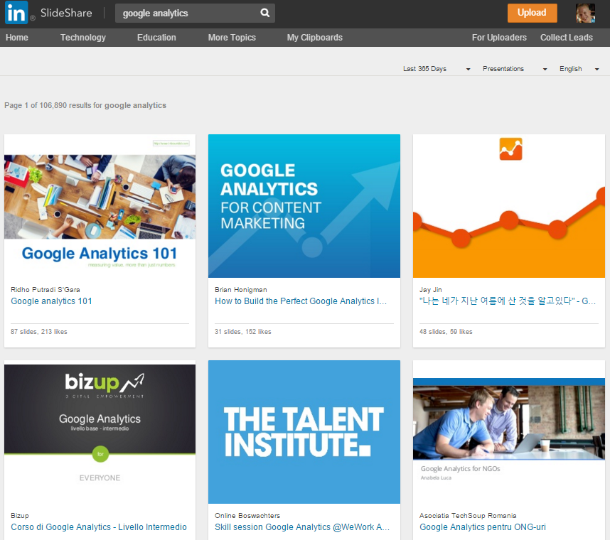 Google Analytics Slideshare