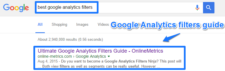 Google Analytics filters guide