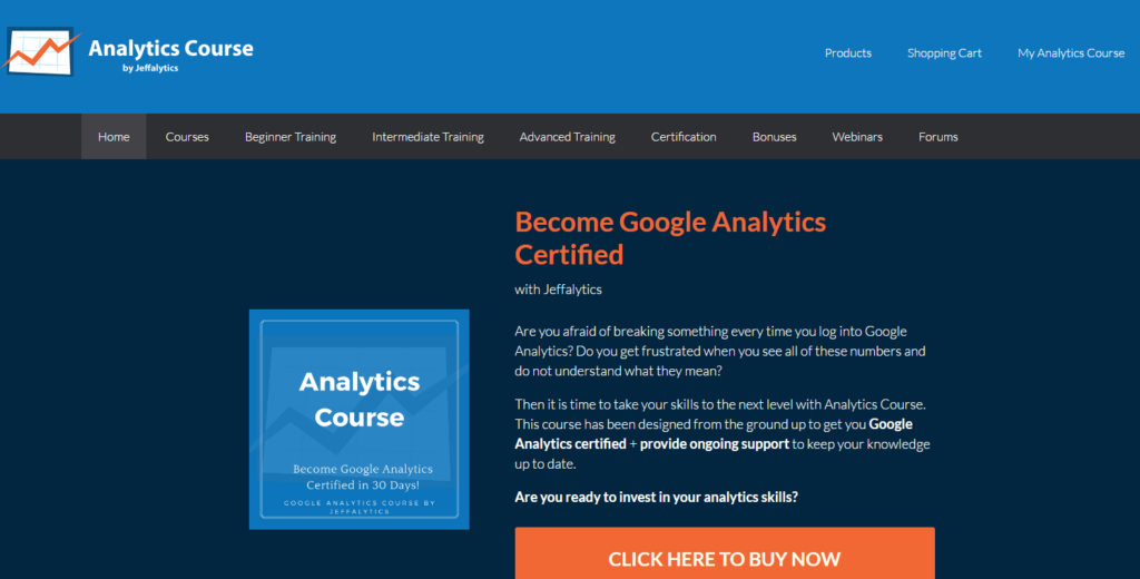 Analytics Course by Jeffalytics