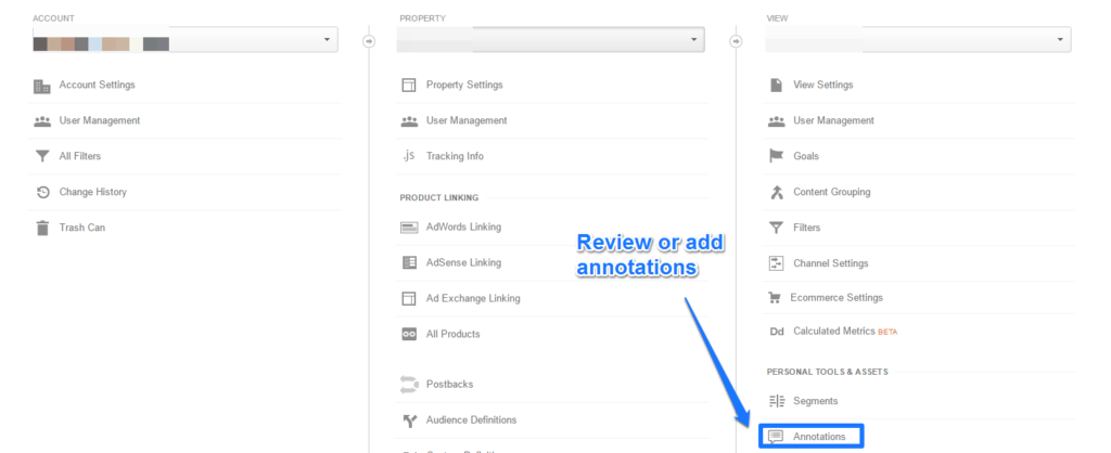 Annotations Admin Interface