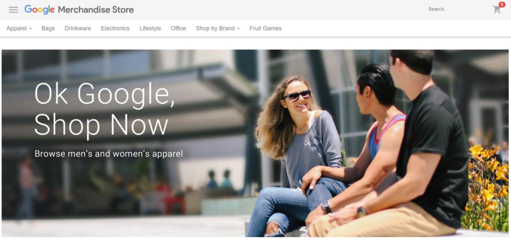 Google Merchandise Store site