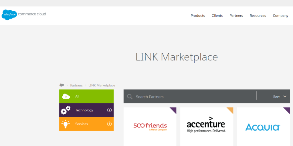 Demandware Link Marketplace