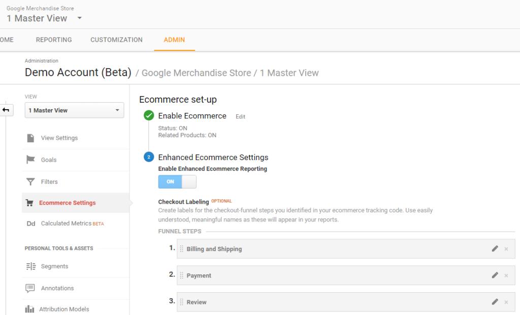 Google Merchandise Store - 1 Master View