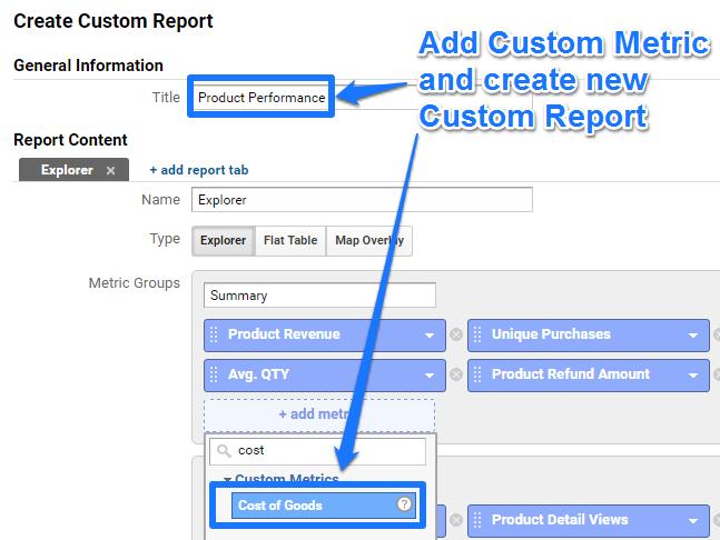 Create Custom Report - Custom Metric