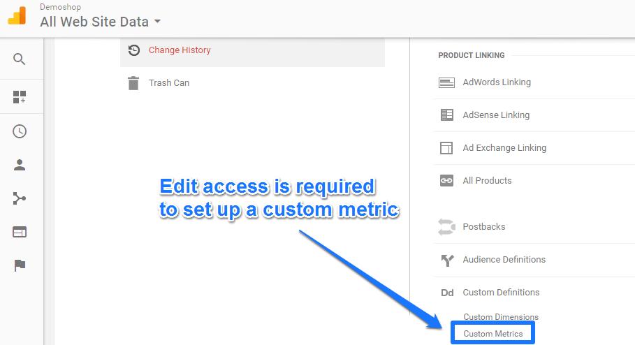 Custom Metrics admin interface