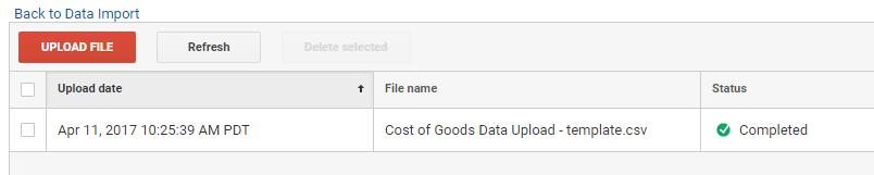 Data upload verified