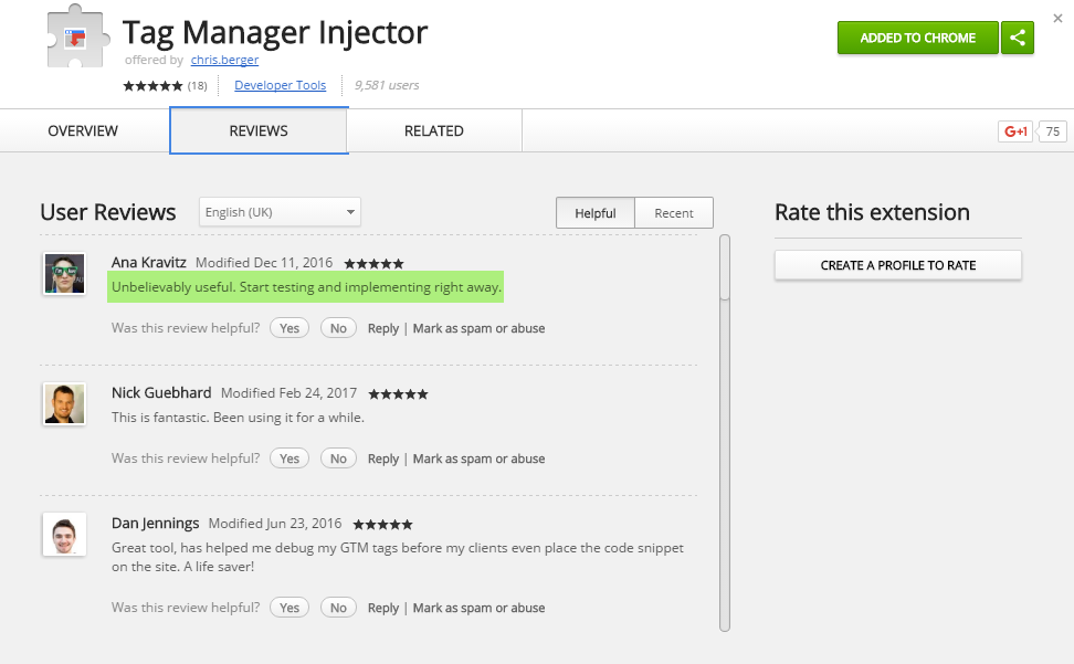 Tag Manager Injector