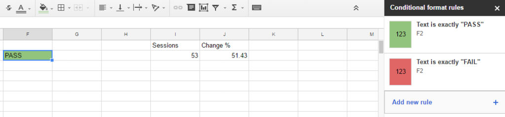 Google Sheets - step 4