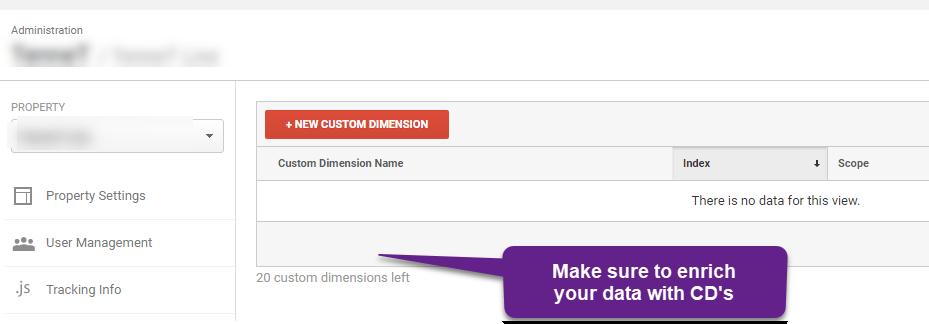 #22 - custom dimensions