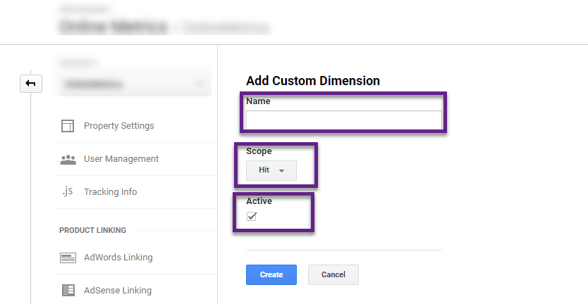 Add Custom Dimensions