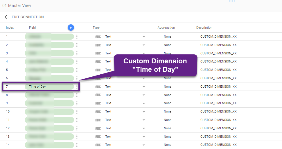 Custom Dimension - Google Data Studio