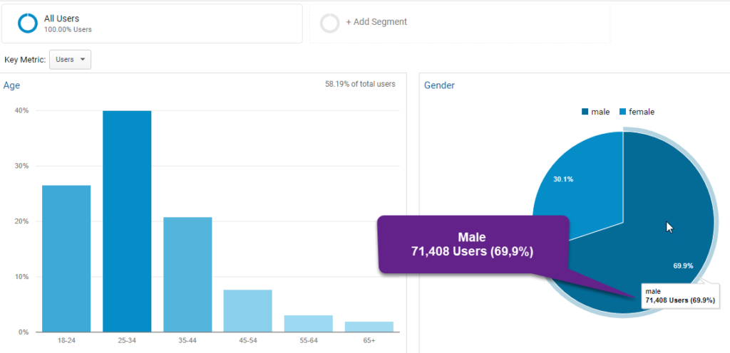 Google Analytics Demo Account Report Demograhics