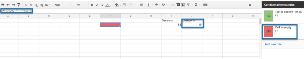 Google Sheets step 7