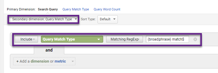 Step 1 - Search Queries Report