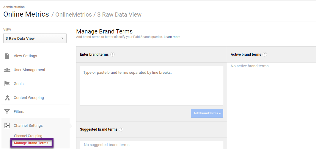 Step 4 - manage brand terms