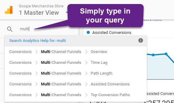 Multi-Channel Funnels - five reports