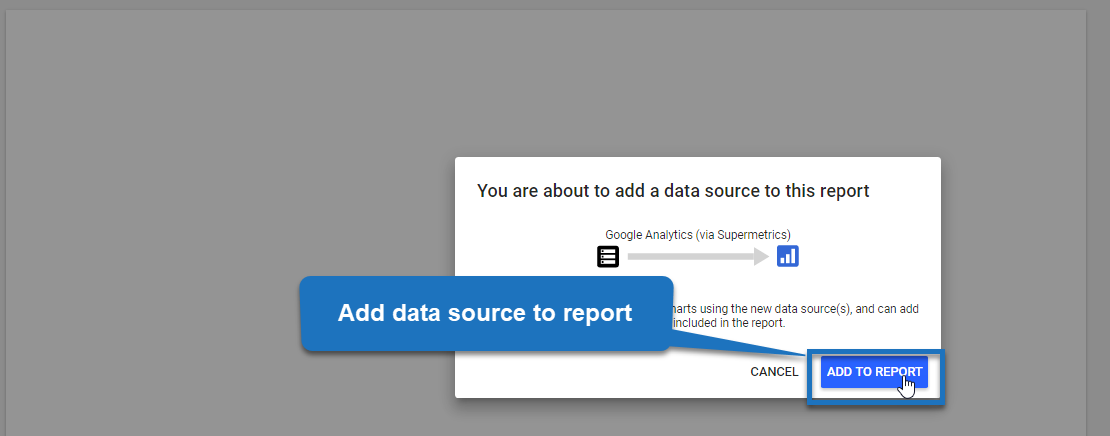 step 6 - add data source to report