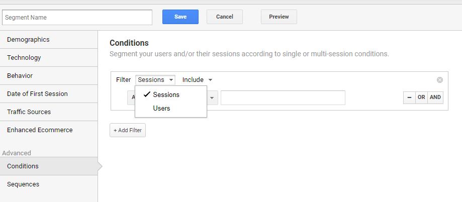 Feature - Google Analytics Segments