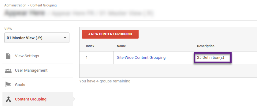Feature - Site-Wide Content Grouping