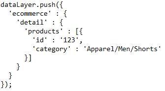 Exemplu de cod categorie produs